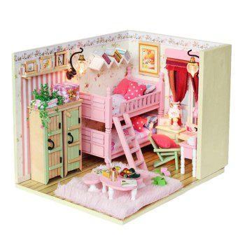 Wooden Doll House Mini Kit with LED Light Furniture DIY Handcraft Toy