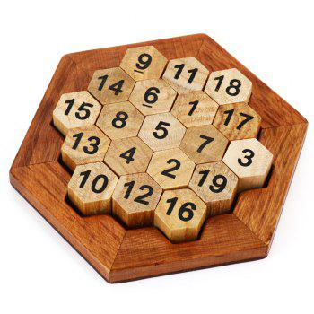 Hexagon Puzzle Number Theme Educational Wooden Interlock Toy