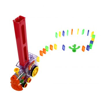 Domino Train Toy with Light Sound Educational Kit -  COLORMIX