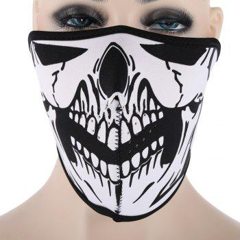 Outdoor Cycling Skull Mask Windproof Riding Face Guard - WHITE AND BLACK WHITE/BLACK