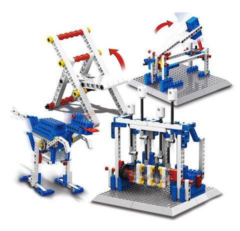 4 in 1 Mechanical Theme Educational Building Block Electric Toy - COLORMIX