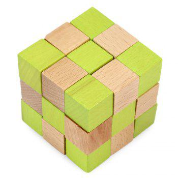 Square Puzzle Educational Wooden Interlock Toy Christmas Present