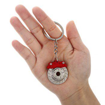 Alloy Brake Key Chain Hanging Pendant Keyring - 3.54 inch -  COLORMIX