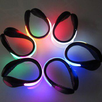 LED Flashing Shoe Clip for Dance Party Trick Toy Christmas Birthday Gift - 1pc - COLORMIX