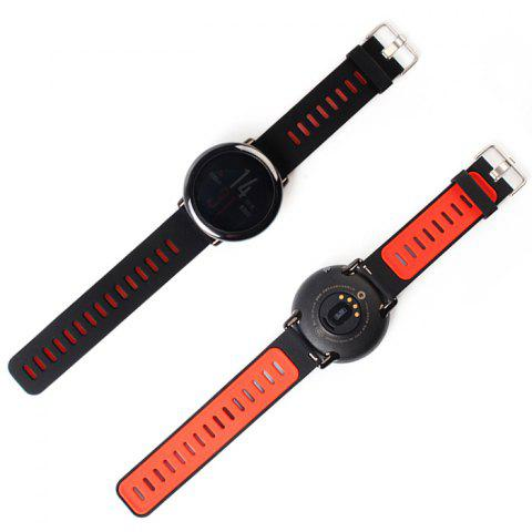 22mm Soft Breathable Silicone Sports Strap Smartwatch Wristband for AMAZFIT Smart Watch - ORANGE