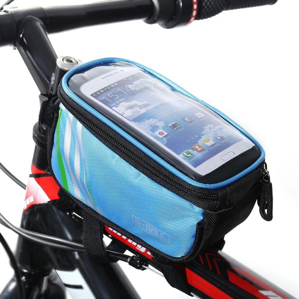 B - SOUL YA0207 1.4L Water Resistant 4.8 inch Touch Screen Bicycle Front Tube BagHome<br><br><br>Size: 4.8?<br>Color: BLUE