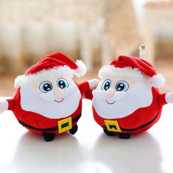 Buy 7.87 inch Santa Clause Figure Model Lovely Plush Doll Soft Cute Stuffed Toy - 1pc COLORMIX