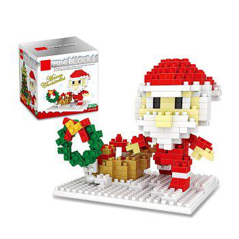 Christmas Series Santa Claus Building Block Model Intelligence Development Toy for Kids