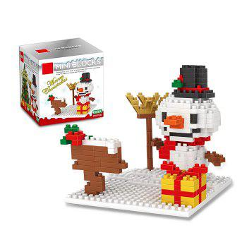 Christmas Series Snowman Building Block Model Intelligence Development Toy for Kids
