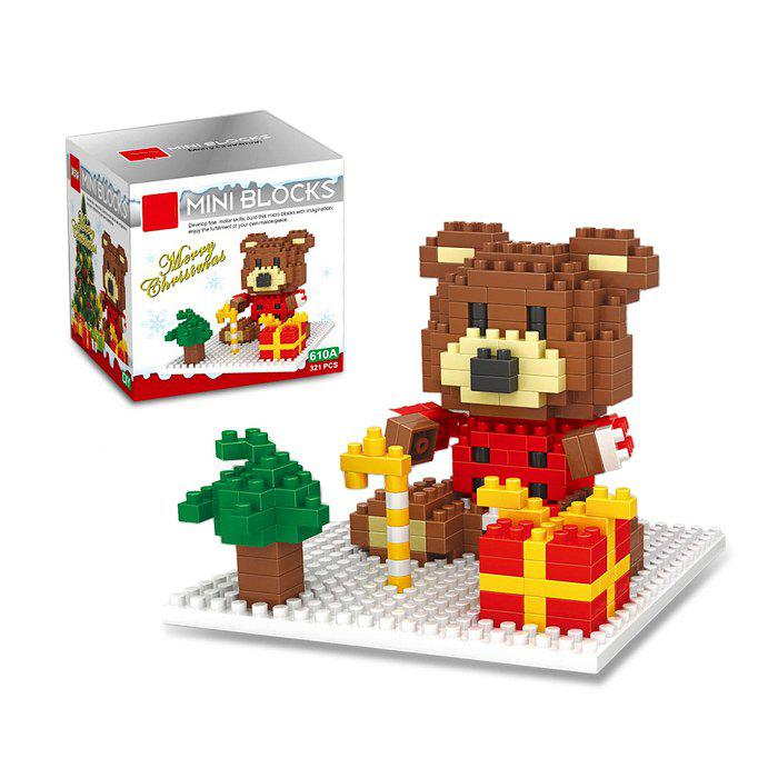 Christmas Series Bear Building Block Model Intelligence Development Toy for Kids big size christmas music box minifigures minecraft building blocks children birthday education toy doll kids toys action 0884