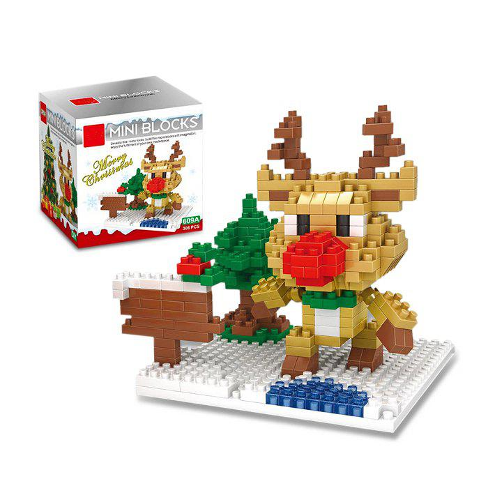 Christmas Series Reindeer Building Block Model Intelligence Development Toy for Kids big size christmas music box minifigures minecraft building blocks children birthday education toy doll kids toys action 0884