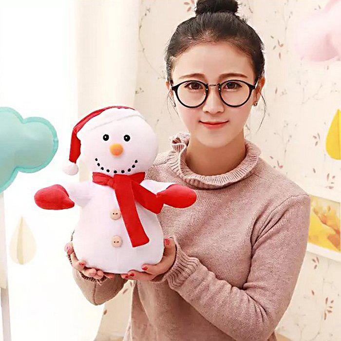 Santa Clause Figure Model Lovely Plush Doll Soft Cute Stuffed Toy - 11.8 inch - WHITE
