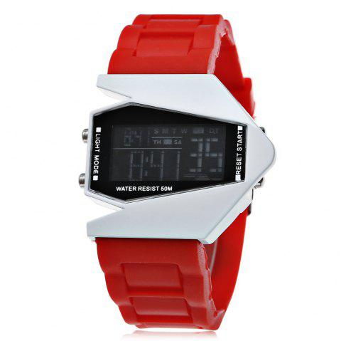 Fashion Plane Model Colorful LED Watch - RED