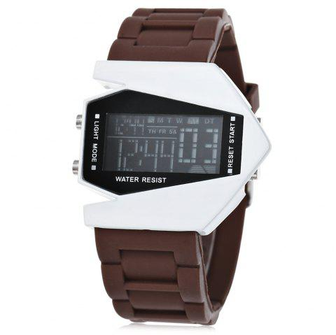 Fashion Plane Model Colorful LED Watch - COFFEE