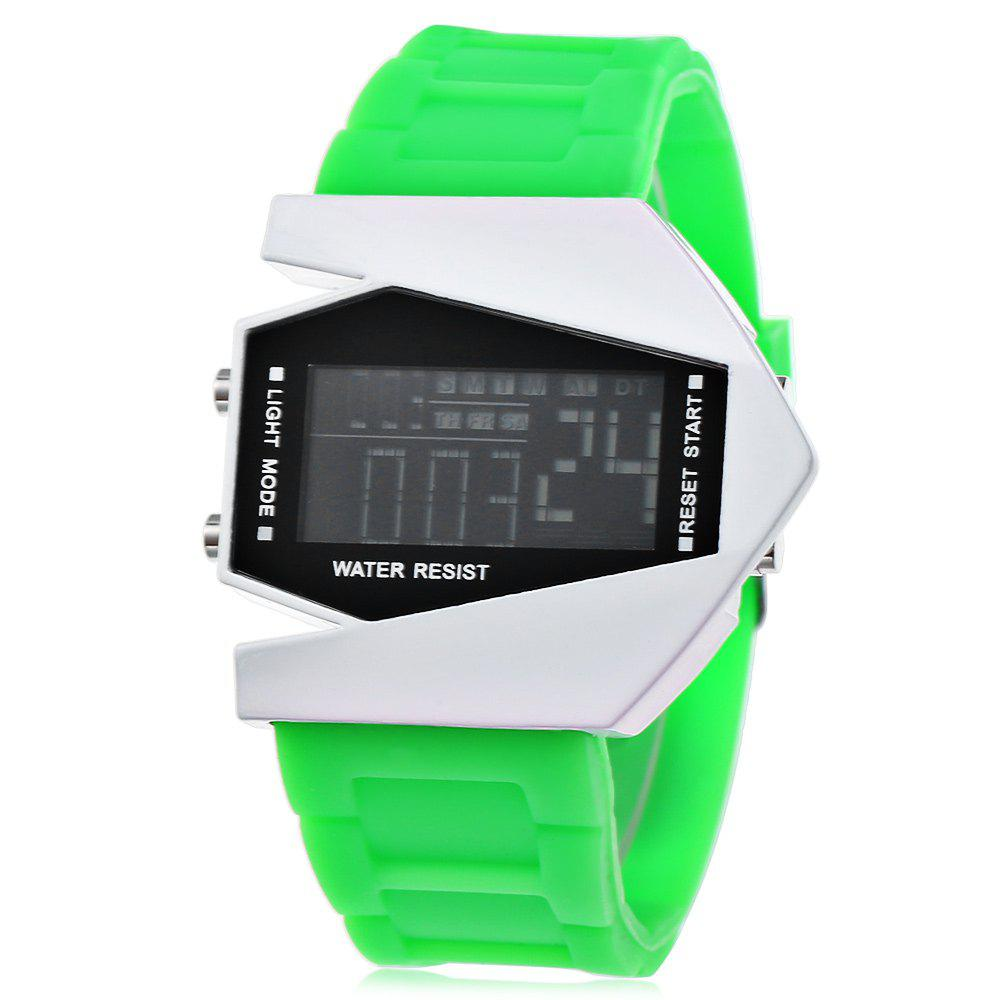 Fashion Plane Model Colorful LED Watch, Green