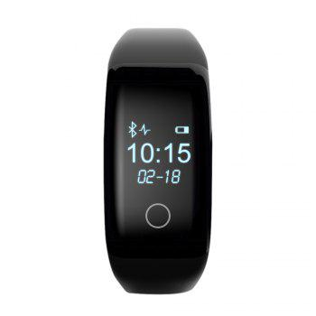 V6S Heart Rate Smart Wristband with Sleep Monitor Pedometer USB Charging Interface Dial