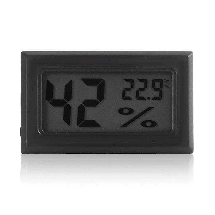 Mini Digital LCD Temperature Sensor Humidity Meter Thermometer Hygrometer - BLACK