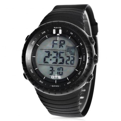 OTS T7005G Male Sports LED Watch Stopwatch Alarm Wristwatch - GRAY