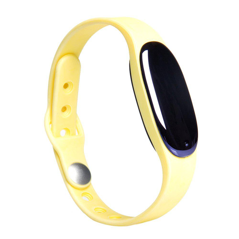 L7 Bluetooth 4.0 Smart Wristband Sleep Monitor Notifications Rappel Anti-perdu Bracelet - Jaune