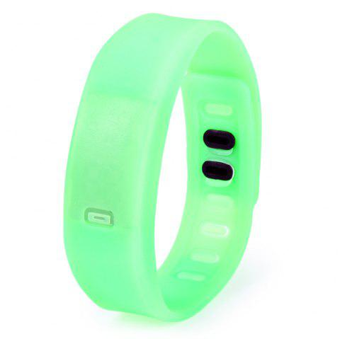 Ultralight Silicone Strap LED Watch - GREEN