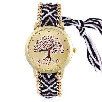 Bohemian Braid Life Tree Bracelet Watch
