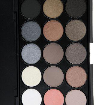 Natural 15 Colors Long Lasting Pearly Eyeshadow Palette Makeup Kit - JET BLACK