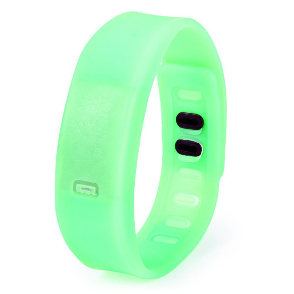 Ultralight Silicone Strap LED Watch, Green