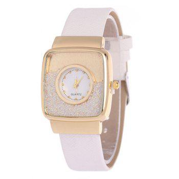 Faux Leather Drift Sand Watch