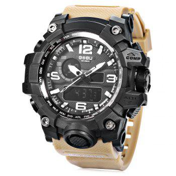 GOBU 1618 Men LED Sports Quartz Digital Watch with Alarm Stopwatch Wristwatch