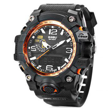 GOBU 1618 One Window Display Men LED Sports Quartz Digital Watch with Alarm Stopwatch Wristwatch