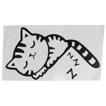 Sleeping Cat Pattern Wall Switch Art Sticker Creative Home Decoration