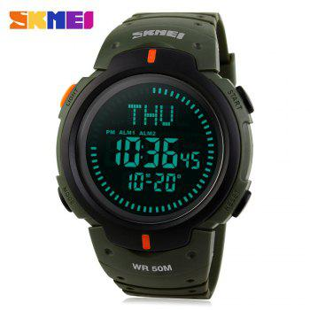 SKMEI 1231 Sports Watch 50M Waterproof EL Backlight Compass World Time for Men