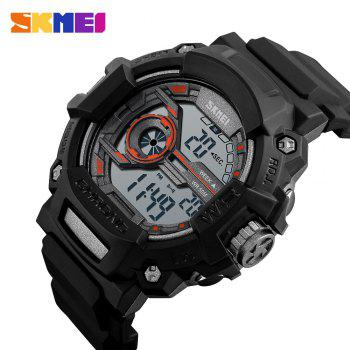 SKMEI 1233 EL Backlight Alarm Sports Watch with 50M Waterproof for Men - ORANGE