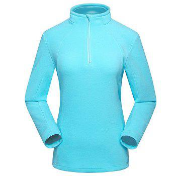 Umove Outdoor Polar Fleece Sweatshirt Warm Soft Anti-pilling for Autumn Winter - BLUE - WOMAN BLUE WOMAN