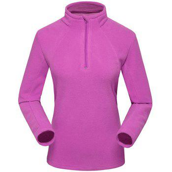 Umove Outdoor Polar Fleece Sweatshirt Warm Soft Anti-pilling for Autumn Winter - PURPLE - WOMAN 2XL