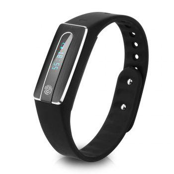 HB02 Smart Bluetooth Wristband Heart Rate Track Watch with USB Plug - BLACK BLACK