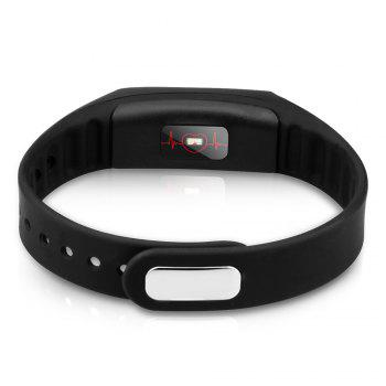 HB02 Smart Bluetooth Wristband Heart Rate Track Watch with USB Plug -  BLACK
