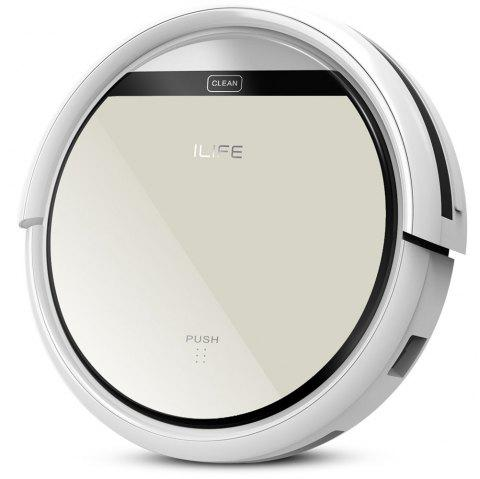 ILIFE V5 Intelligent Robotic Vacuum Cleaner Set LCD Touch Screen Self-charge Ultimate Filter Sensor Remote Control Robot Aspirador - SILVER