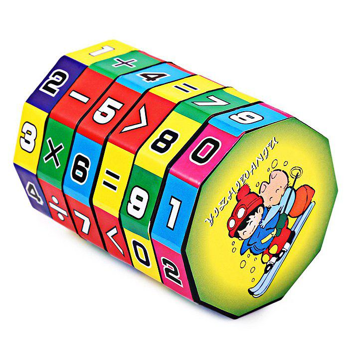 6 Layers Intelligent Puzzle Cube Children Education Learning Math Toy for Children yj8305 3x3x3 three layers magic cube puzzle toy