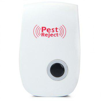 Multi-purpose Electronic Pest Repeller Ultrasonic Mosquito Rejector for Home Office - WHITE EU PLUG