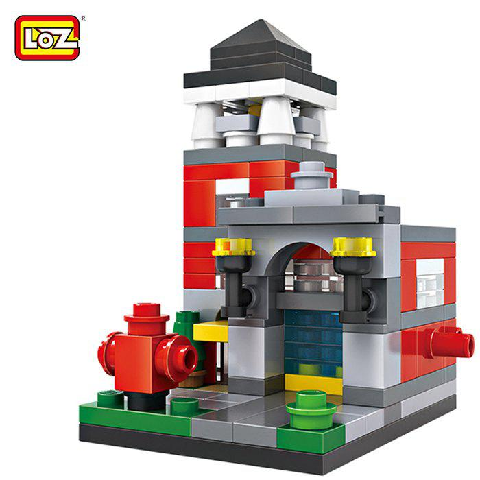 LOZ ABS Street View Architecture Building Block Educational Movie Product Kid Toy - 159pcs loz 130pcs m 9158 iron man building block educational assembling boy girl gift for sparking imagination