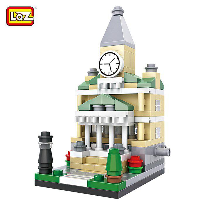 LOZ ABS Street View Architecture Building Block Educational Movie Product Kid Toy - 159pcs loz abs cartoon hero style building block