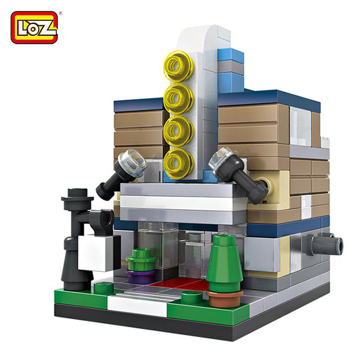 LOZ ABS Theater Architecture Building Block Educational Movie Product Kid Toy - 146pcs loz building blocks educational toys kids merlion park statue singapore fountain mini street view architecture toys brick 1020
