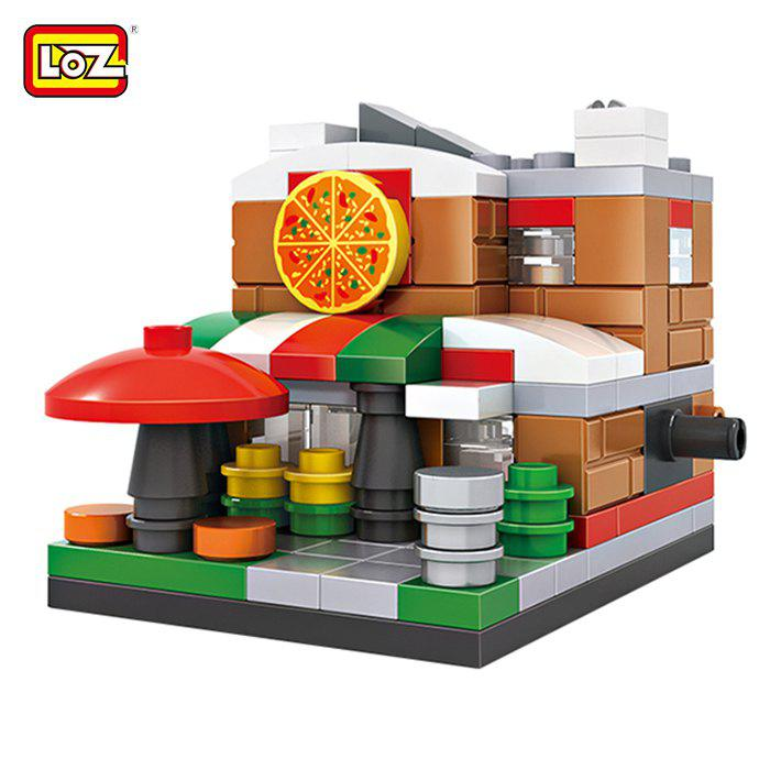 LOZ ABS Street View Architecture Building Block Educational Movie Product Kid Toy - 126pcs japanese anime one piece original megahouse mh variable action heroes complete action figure dracule mihawk