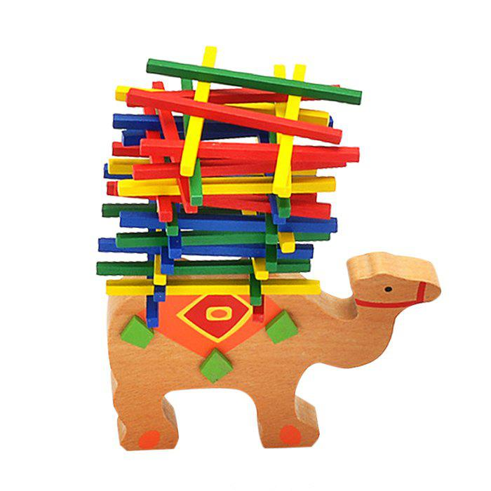 Wooden Camel Balance Building Block Educational Toy - COLORMIX