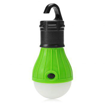 Outdoor 3 Modes 500LM Multifunctional LED Hook Lamp for Hiking - GREEN GREEN