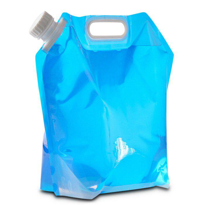 5L Capacity Portable Liquid Bag Folding Water Storage Lifting Bag for Outdoor Camping Hiking Cycling oumily portable outdoor cycling water bag folding water bottle bag w carabiner clip blue 700ml
