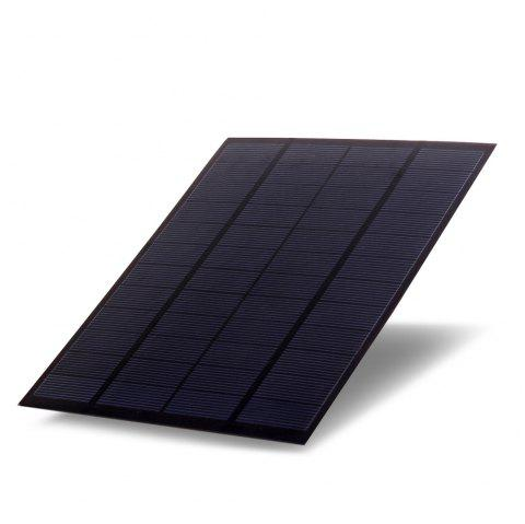 5W 12V Polycrystalline Silicon Solar Panel Charger - BLACK