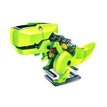 CUTE SUNLIGHT 2125 T4 Educational DIY 4 in 1 Solar Robot Kits Puzzling Toy - GREEN GREEN