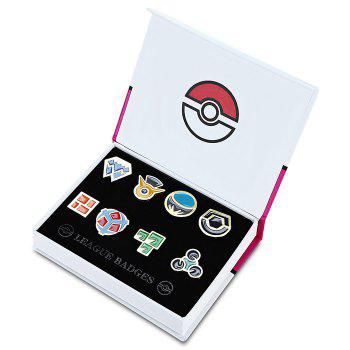 Alloy Badge Movie Product Children Gift Decoration - 8pcs / set - COLORMIX STYLE A